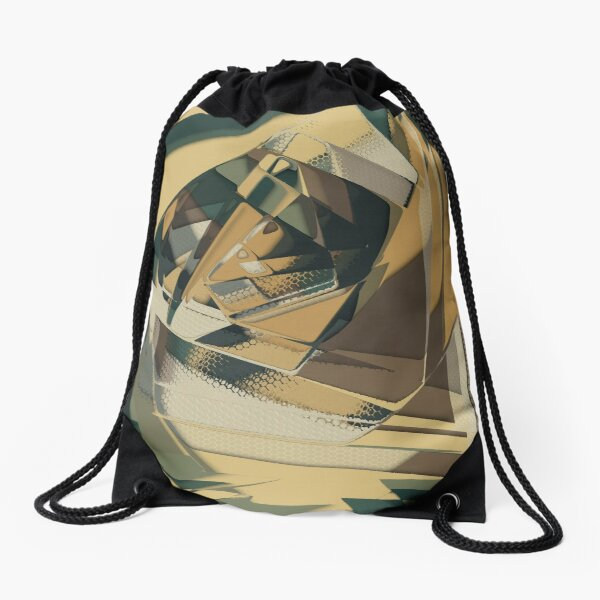 Abstract Melt 3 Drawstring Bag