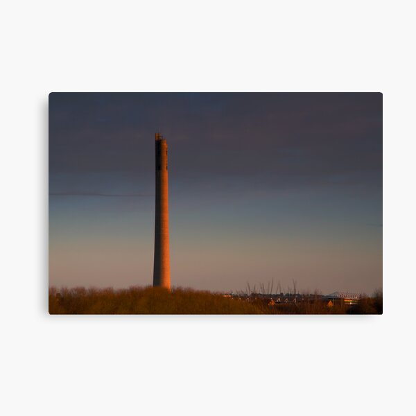 National Lift Tower Dawn Side Lighting Canvas Print