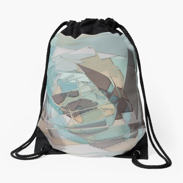 Abstract Melt 2 Drawstring Bag