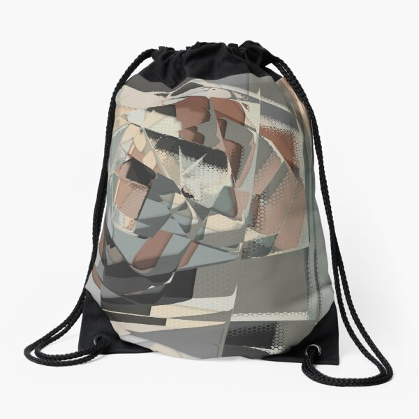 Abstract Melt 1 Drawstring Bag
