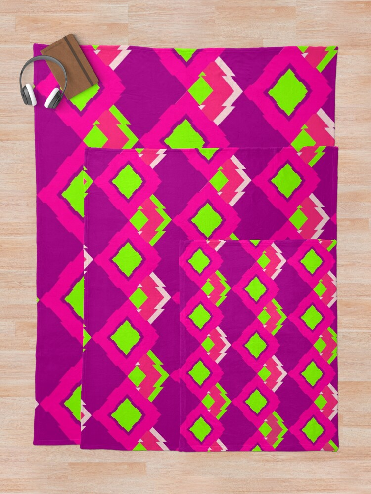 Alternate view of Fun Girly Playful Fabric Print Throw Blanket