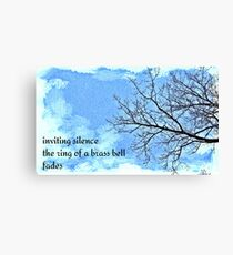 winter tree haiga Canvas Print