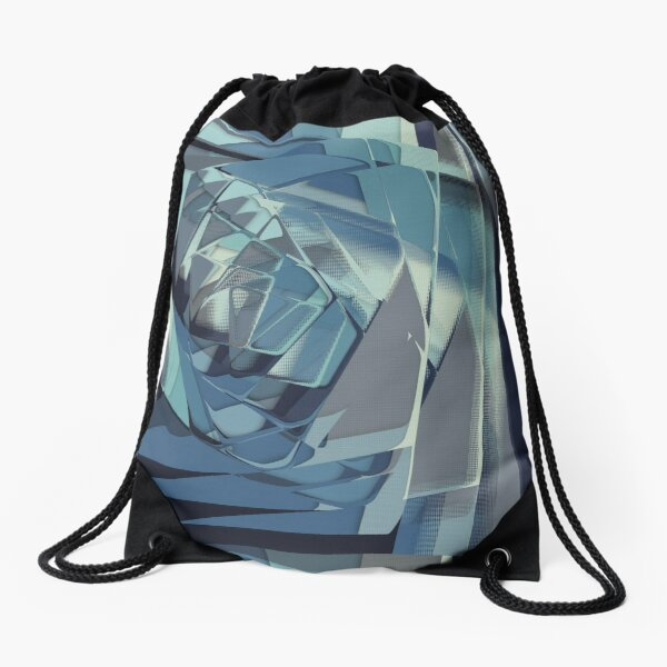 Abstract Melt 4 Drawstring Bag