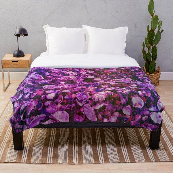 Pink and Purple Fantasy Sea Shell Print Throw Blanket