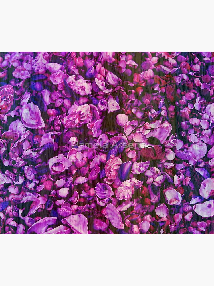 Pink and Purple Fantasy Sea Shell Print by xpressio