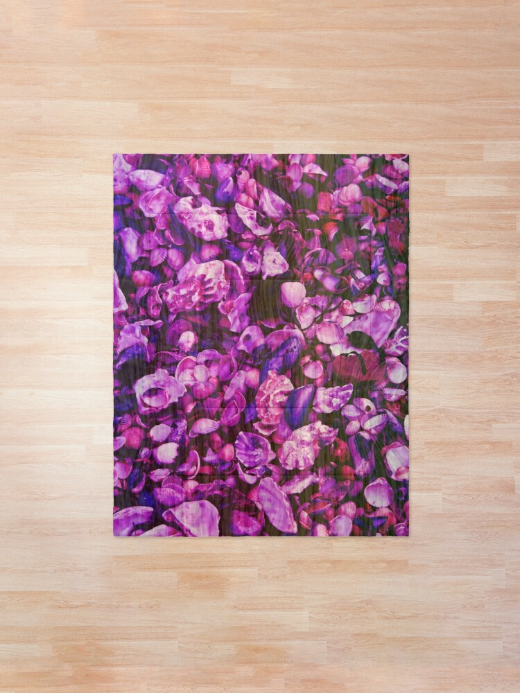 Alternate view of Pink and Purple Fantasy Sea Shell Print Comforter