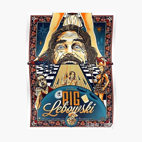 THE BIG LEBOWSKI THE DUDE GIANT PICTURE ART PRINT POSTER Poster