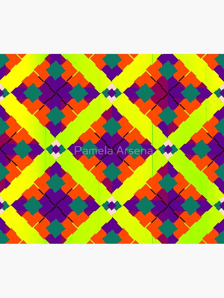 Colorful Bright Eclectic Fabric Print by xpressio