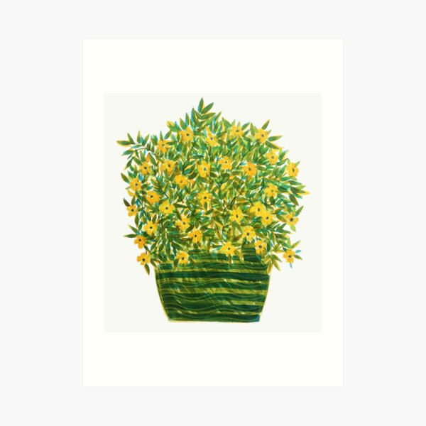 For a cloudy day, yellow! Art Print