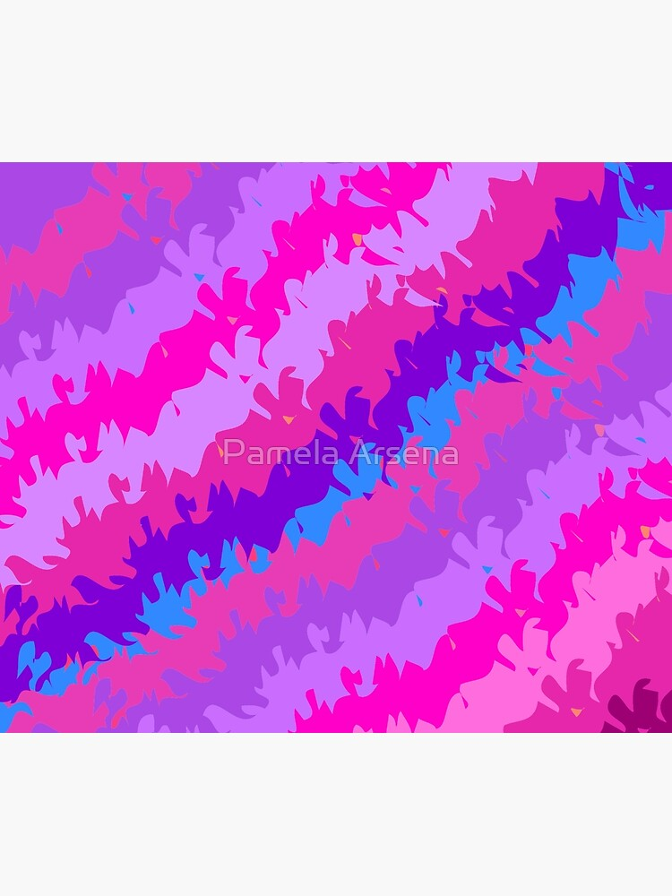 Bright Waves and Stripes Fabric Print by xpressio