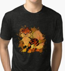 Arcanine - with background Tri-blend T-Shirt