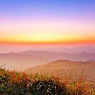 Sunrise at mountains in Hong Kong by kawing921