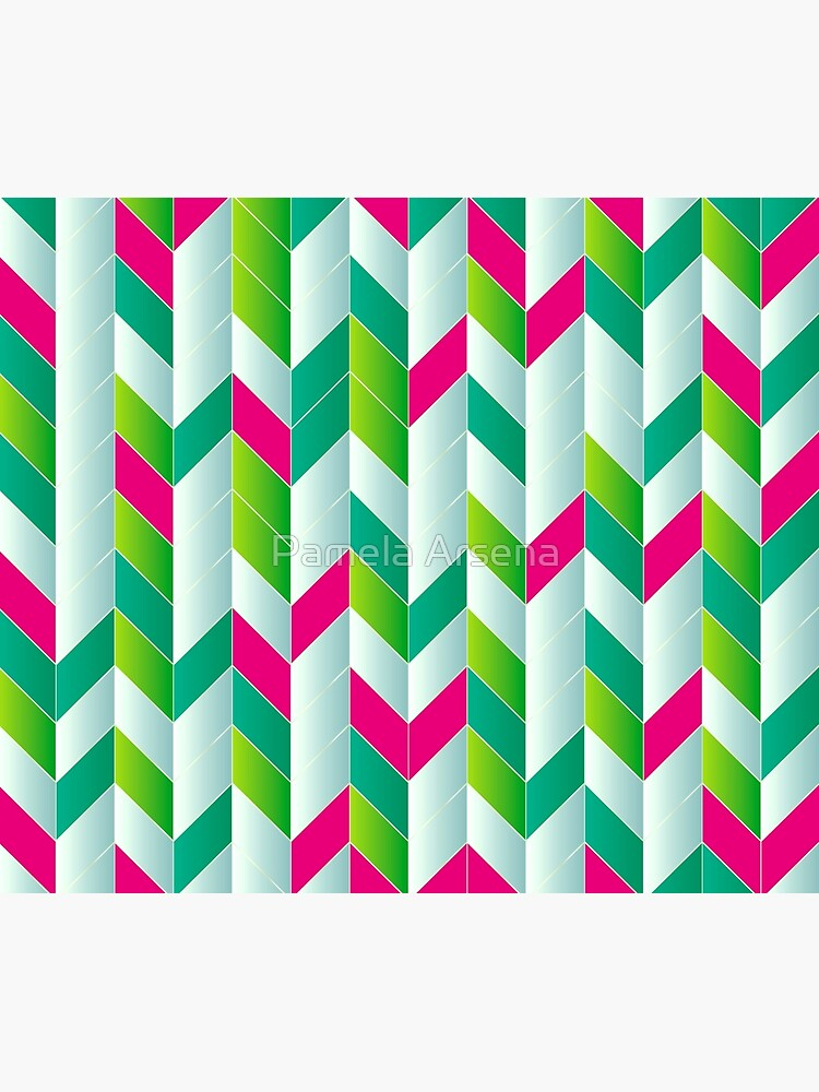 Beautiful Stripes of Bohemia Fabric Print by xpressio