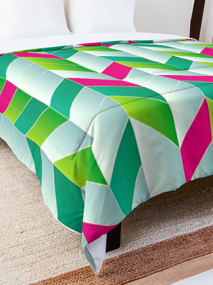 Alternate view of Beautiful Stripes of Bohemia Fabric Print Comforter