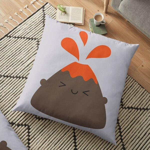 Happy Kawaii Volcano Floor Pillow