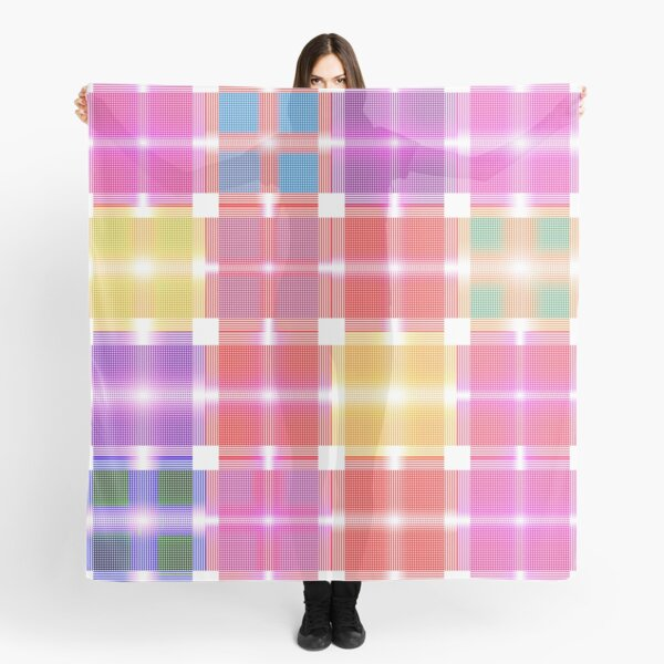 Shades of Pastel Patchwork Fabric Scarf