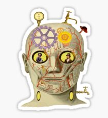 Steampunk Surreal Head Sticker