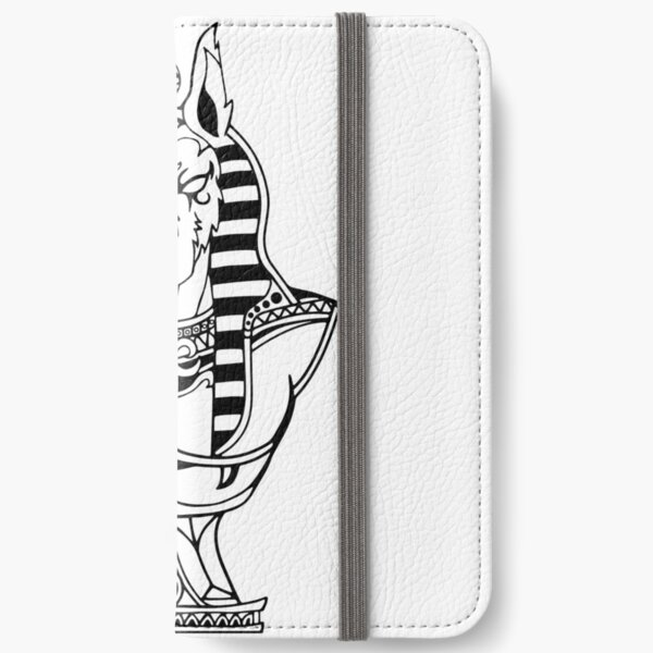 Egyptian Anubis Wolf Bust iPhone Wallet