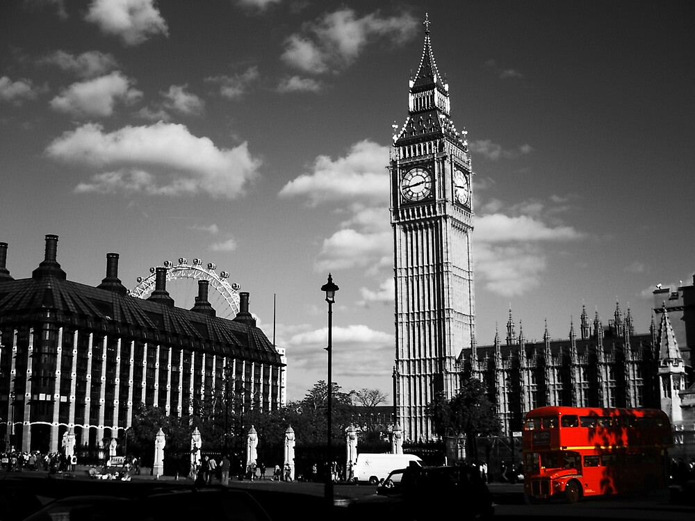 Big Ben and Routemaster Bus by Chris Day