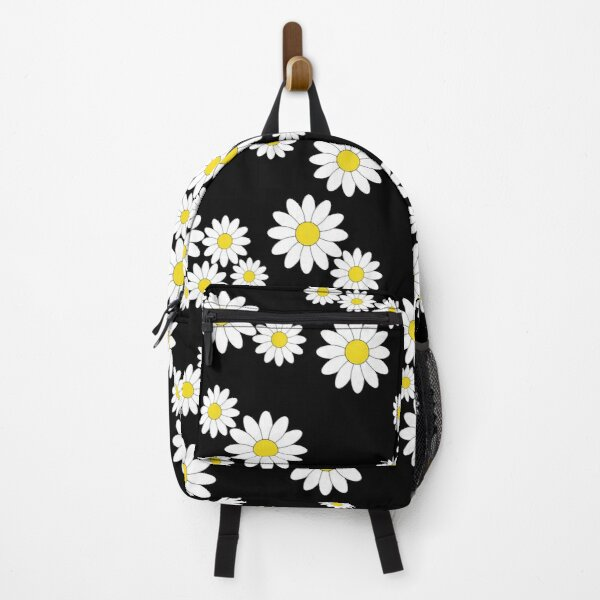 Cute black daisy print - floral print Backpack