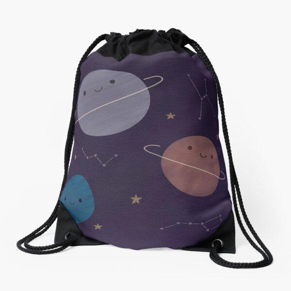 Kawaii Outer Space Drawstring Bag