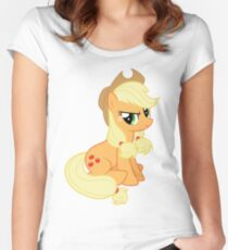 Applejack with a ponytale Women's Fitted Scoop T-Shirt