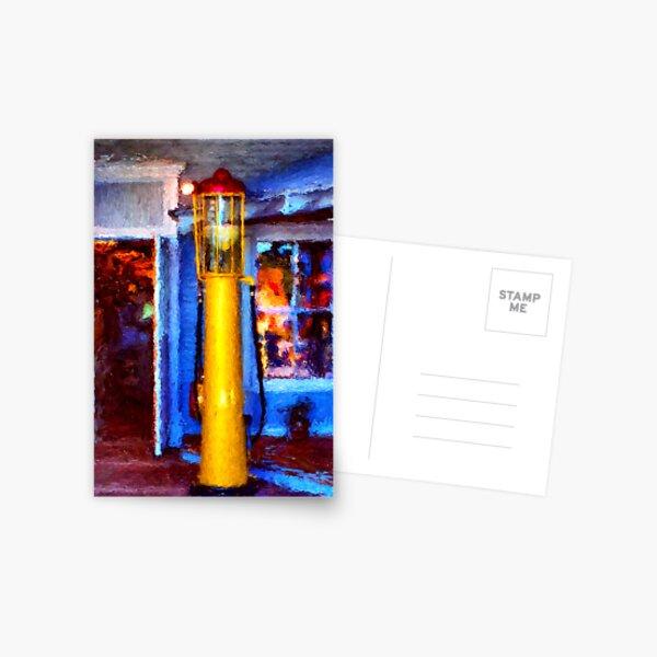 Old Gasoline Pump Postcard