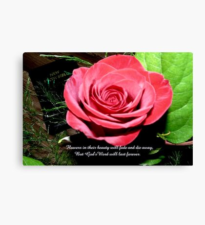 God's Word Will Last Forever Canvas Print