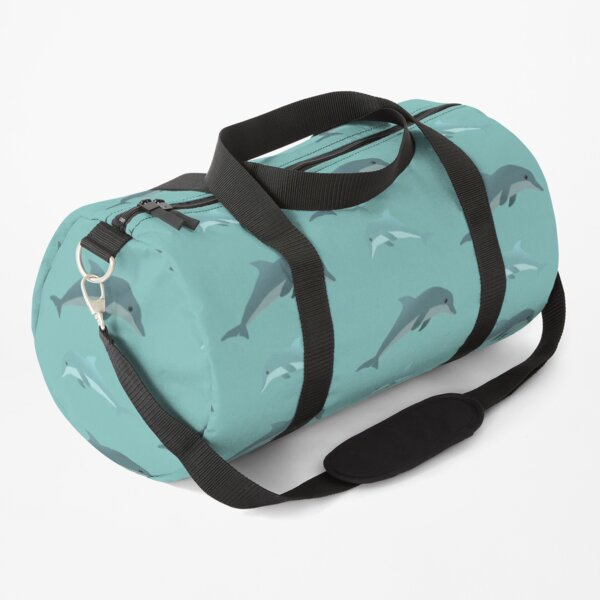 Two dolphins in the water Duffle Bag