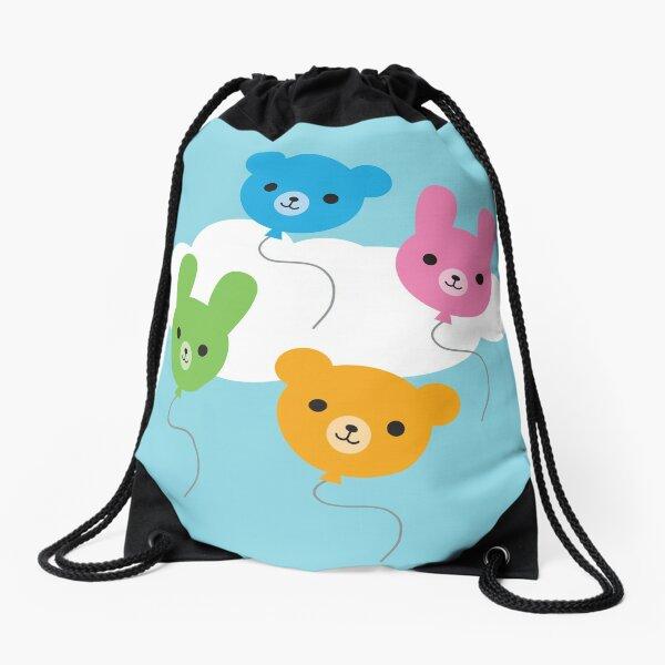 Kawaii Animal Balloons Drawstring Bag