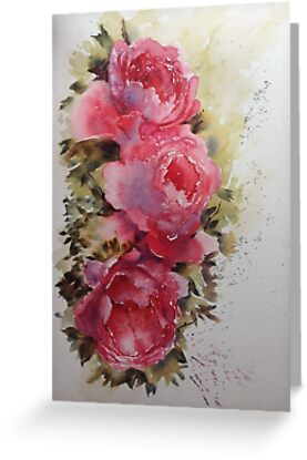 Watercolour Roses by Karl Fletcher
