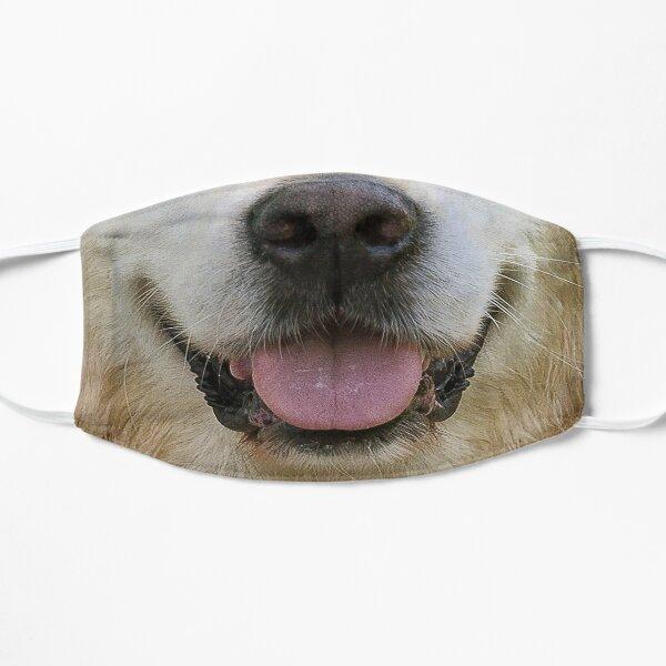 golden retriever dog funny face mask mouth  Flat Mask