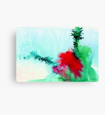Red and Green Abstract 1 Canvas Print