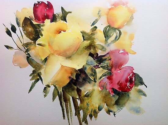 The yellow roses by Karl Fletcher
