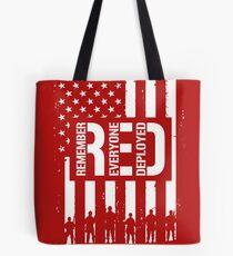 R.E.D. (Remember Everyone Deployed) Tote Bag