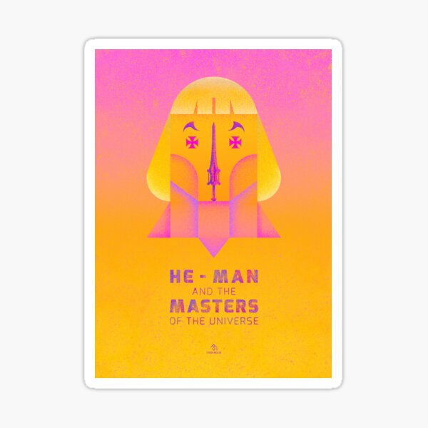 He-Man and The Master of the Universe Tribute illustration Sticker