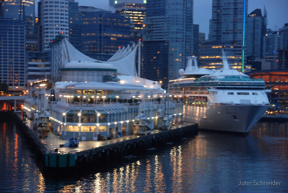 Port Metro - Vancouver BC by John Schneider