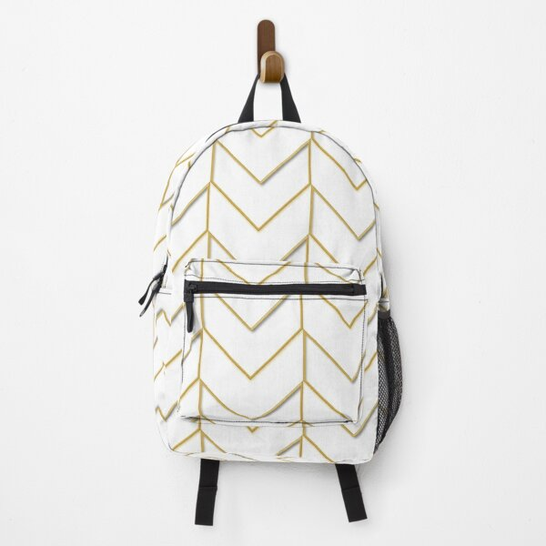SPICY MUSTARD CHEVRON AND WHITE OUTLINEDE CHEVRON ZIG ZAG BY OZCUSHIONSTOO Backpack
