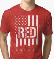 R.E.D. (Remember Everyone Deployed) Tri-blend T-Shirt