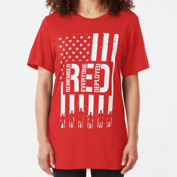 R.E.D. (Remember Everyone Deployed) Slim Fit T-Shirt