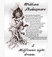 Puck, A Midsummer Night's Dream, William Shakespeare Poster