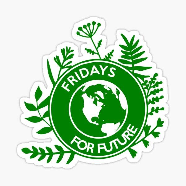 Fridays for Future - Pflanzen Support Logo Sticker