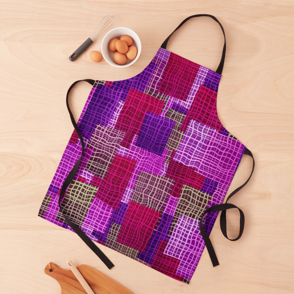 Trendy Unique and Cute Abstract Geometric Woven Color Block Apron