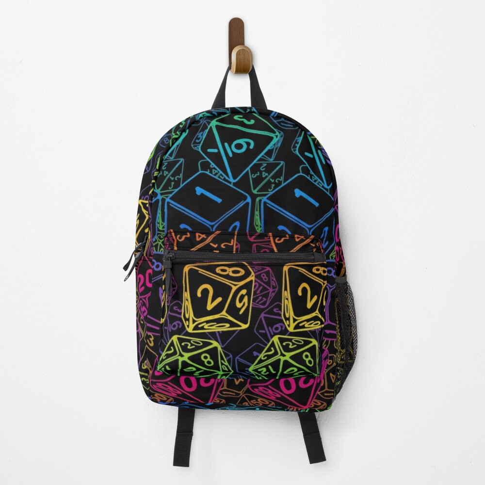 Dice Pattern D20 Rainbow Backpack