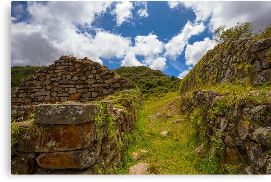 Inca Ruins, Cojitambo, Ecuador by Paul Wolf