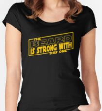 The Beard Is Strong With This One Women's Fitted Scoop T-Shirt