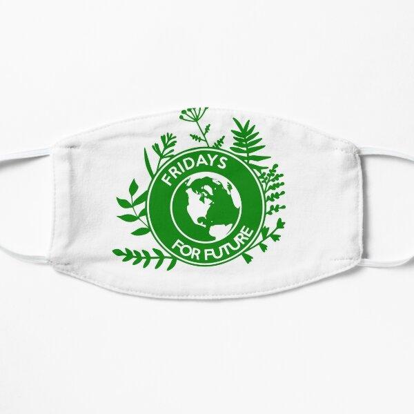 Fridays for Future - Pflanzen Support Logo Flache Maske