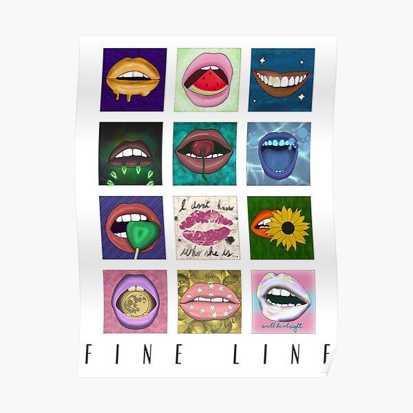 Fine Line Album Poster Lip Aesthetic (Blanco) Póster