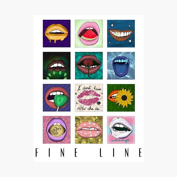 Fine Line Album Poster Lip Aesthetic (White) Photographic Print