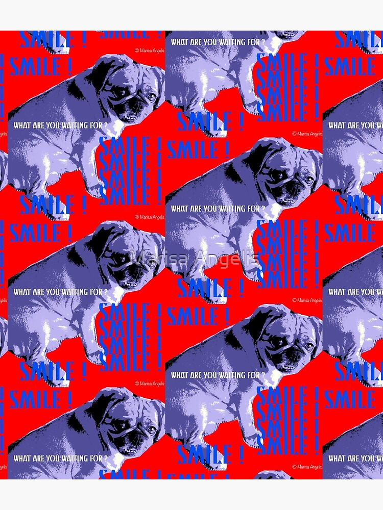 Smile - What Are You Waiting For? Pugalier Pug  by AngelisArting